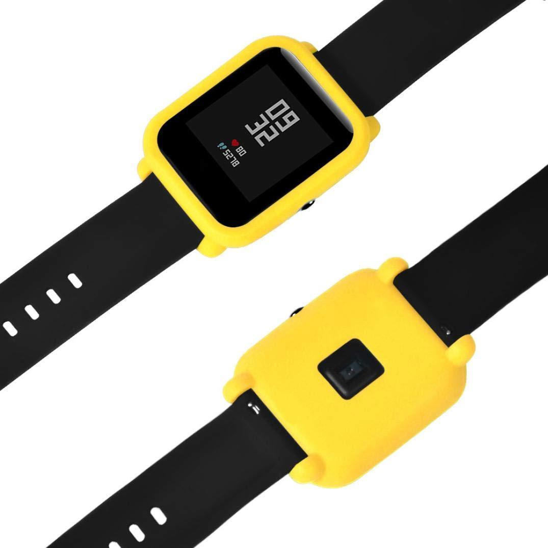 ☀️Modaworld Protector para xiaomi huami amazfit bip Youth, Fundas de Protección para xiaomi huami amazfit bip smartwatch Reloj Fundas Protector ...