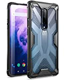 OnePlus 7 Pro Case, Poetic Premium Hybrid Protective Clear Bumper Cover, Rugged Lightweight, Military Grade Drop Tested, Affinity Series, for OnePlus 7 Pro (2019), Frost Clear/Black