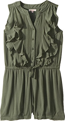 Ella Moss Big Girls' Ruffle Romper, Laurel Wreath, 12 by Ella Moss