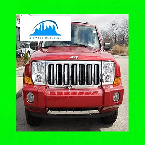 2005-2010 JEEP COMMANDER CHROME TRIM FOR GRILL GRILLE 2006 2007 2008 2009 05 06 07 08 09 10