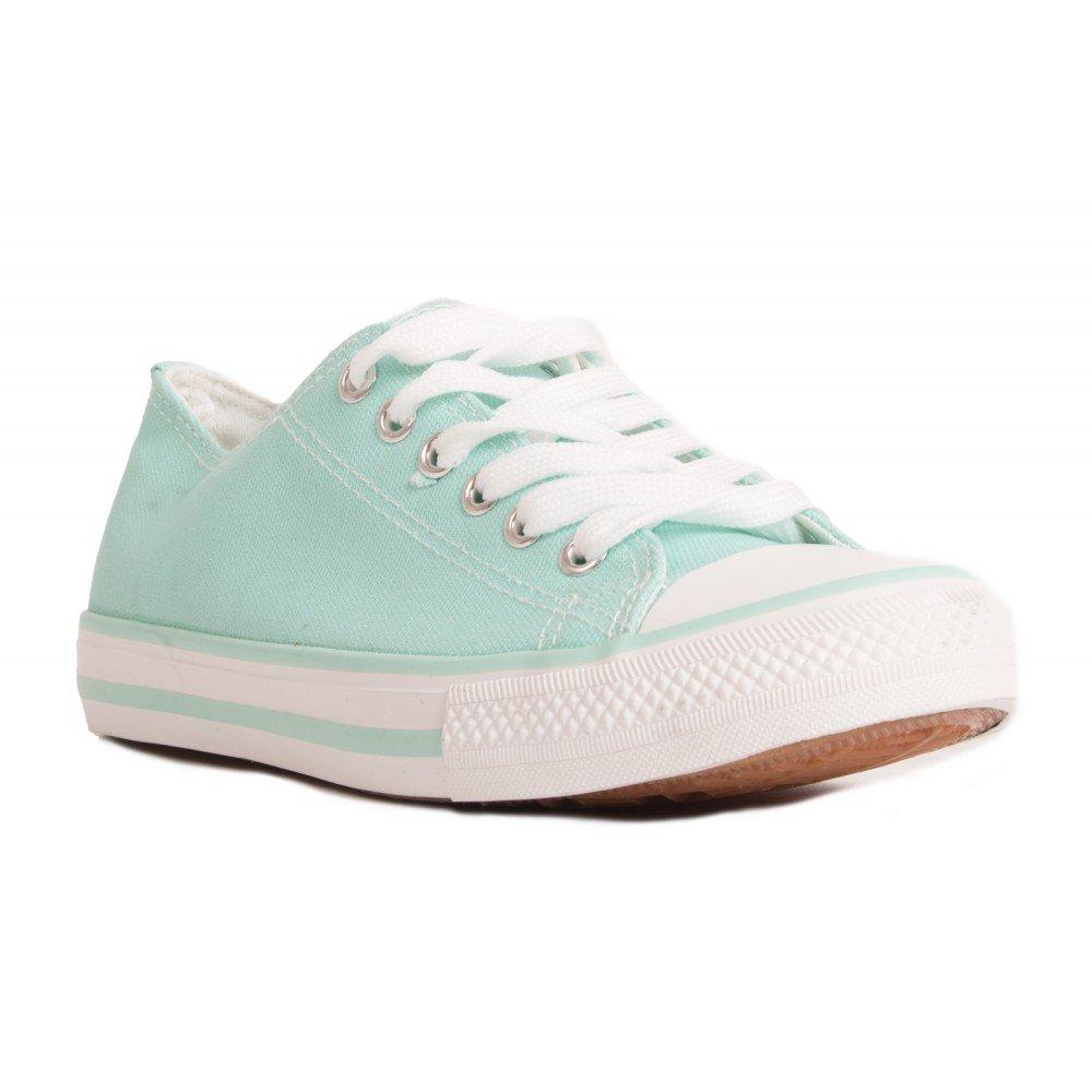 Damen Sneaker Schuhe Freizeitschuhe Low-Top Halbschuhe Schwarz Weiss Blau Gruuml;n 36 37 38 39 40 41