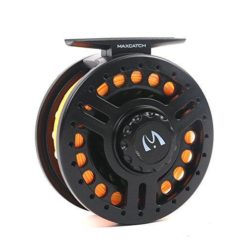Maxcatch Explorer 5/6wt Fly Reel Pre-loaded with Fly Line, Backing,Leader (Lightweight Polymeric body and spool )