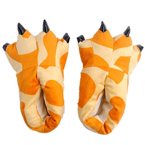 Japsom Unisex Cozy House Monster Slippers Halloween Animal Costume Paw Claw Shoes Deer Pattern L]()