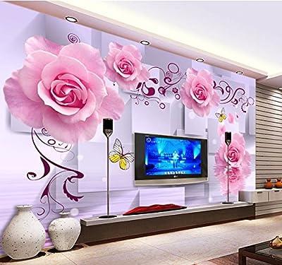 XLi-You 3D jade embossed rose mural bedroom living room TV background wall paper