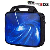New 3DS XL Handheld Case, Voova Water-Resistant Travel Case Cover Shockproof Portable Sleeve Bag for Nintendo New 3DS XL - Galaxy Black