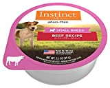 Instinct Original Small Breed Grain Free Real Beef Recipe Natural Wet Dog Food by Nature's Variety, 3.5 oz. Cups (Case of 12)