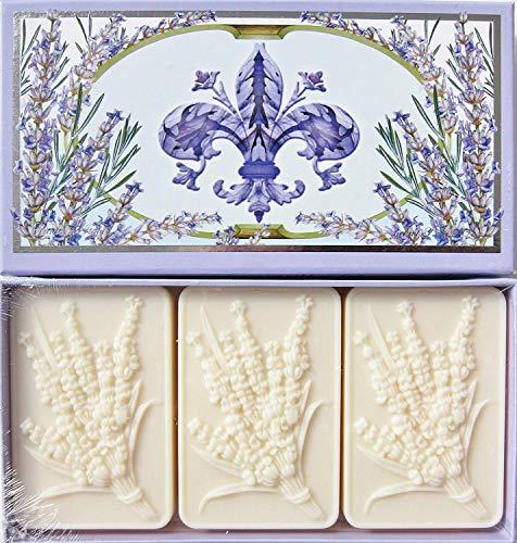Saponificio Artigianale Fiorentino Spigo Toscano Lavender Soap Set From Italy