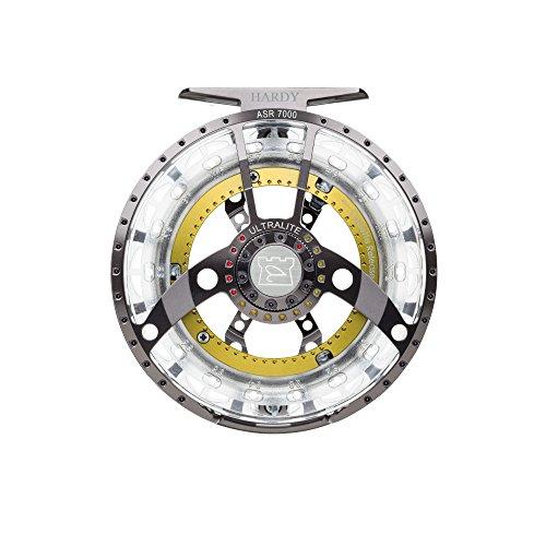 (Hardy Ultralite ASR Fly Fishing Reel, Titanium/Green, 7000 (7/8))