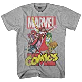 Marvel Comics Retro Mission Comic Book Graphic Men's Adult T-Shirt (Heather Grey, Small)