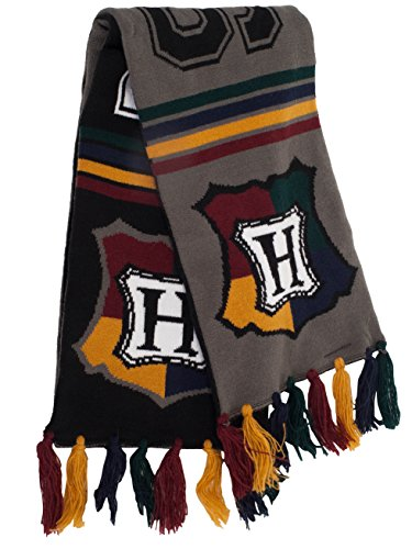 Hermione Costumes For Adults (elope Harry Potter Hogwarts House Reversible Knit Scarf, Hogwarts)