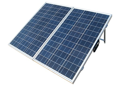 ECO-WORTHY 120 Watts 12Volt Portable Folding Polycrystalline PV Solar Panel Foldable Solar Suitcase