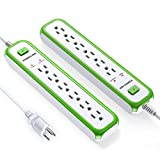 2 Pack  Poweradd 6 Outlet Commercial Power Strip  Deal (Small Image)