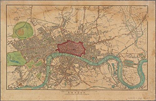 Historic 1815 Map | London | London (England)Antique Vintage Map Reproduction
