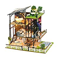 Grehod DIY Dollhouse Kit 3D Play House Dollhouse Miniature Assembly Toy Dollhouse for Kid Children