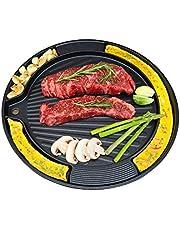 Korean BBQ Egg Grill Pan for Induction, Nonstick Coating Aluminum Multi Pan