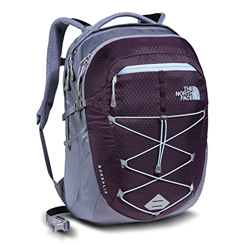 The North Face Womens Borealis Backpack Blackberry Wine / Chambray Blue