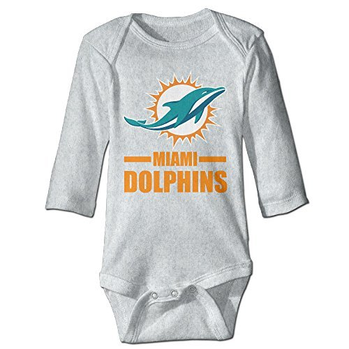 Infant Miami Dolphin 100% Cotton Jumpsuit Ash 24 Months