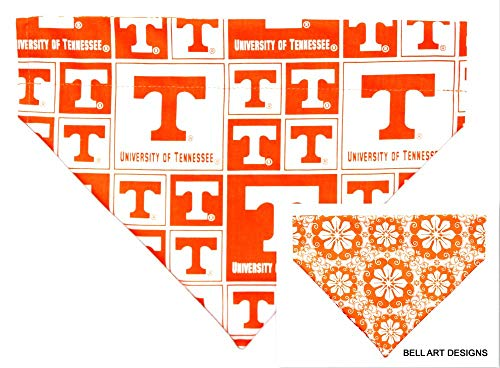 - Bell Art Designs Dog Bandana, Tennessee, Volunteers, Over The Collar, Reversible, Large, 745