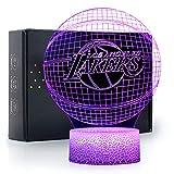 Ikavis 3D LED Night Light Lakers Basketball Flat