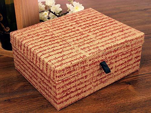 storeindya Distinctive Jute Keepsake Jewelry Trinket Holder Box Storage Organizer with Ancient Prints ()