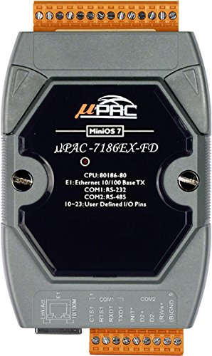 ICP DAS USA uPAC-7186EX-FD Data Acquisition Embedded Controller with 64 MB NAND Memory with 80 Mhz CPU and MiniOS7 by ICP DAS