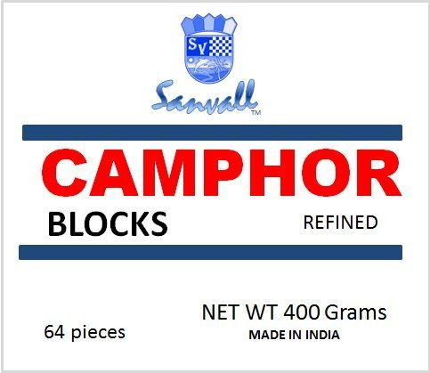 Sanar Naturals Premium Camphor Blocks, 4 tablets each (16 Pack)- Refined Alcanfor, No Residue, Bed Bug Insect Repellant, Prevent Tool Tarnish and Rust ()