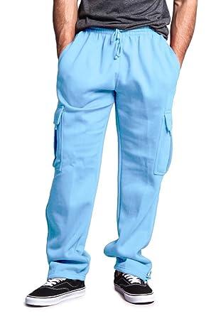G Style Usa Men S Solid Fleece Cargo Pants At Amazon Men S Clothing