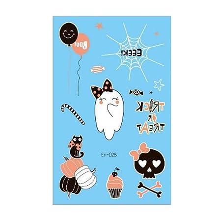 MZY1188 Juguetes Luminosos del Tatuaje de Halloween - Fantasma ...
