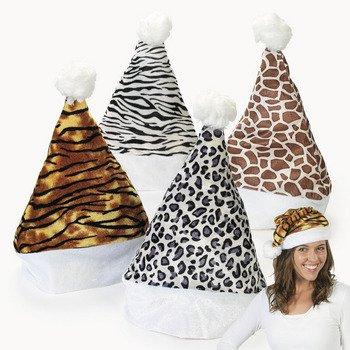 Set Leopard Giraffe stocking Christmas