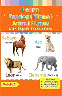 Learn Tagalog (Filipino) Animal Names: Black & White Pictures & English Translations (