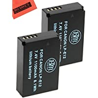Pack Of 2 BM Premium LP-E12 Replacement Batteries for Canon Rebel SL1, EOS-M, EOS M2, EOS M10 Mirrorless Digital Camera