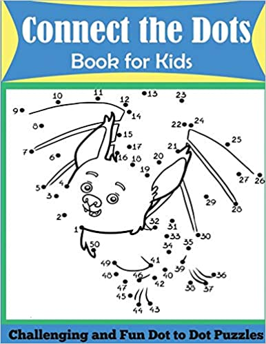 Connect the Dots Book for Kids Challenging and Fun Dot to Dot Puzzles