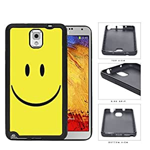 Cute Happy Yellow Smiley Face Hard Rubber TPU Phone Case Cover Samsung Galaxy Note 3 N9000