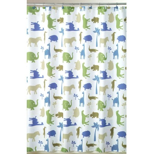 - Allure Home Creations Animal Cracker Fabric Shower Curtain