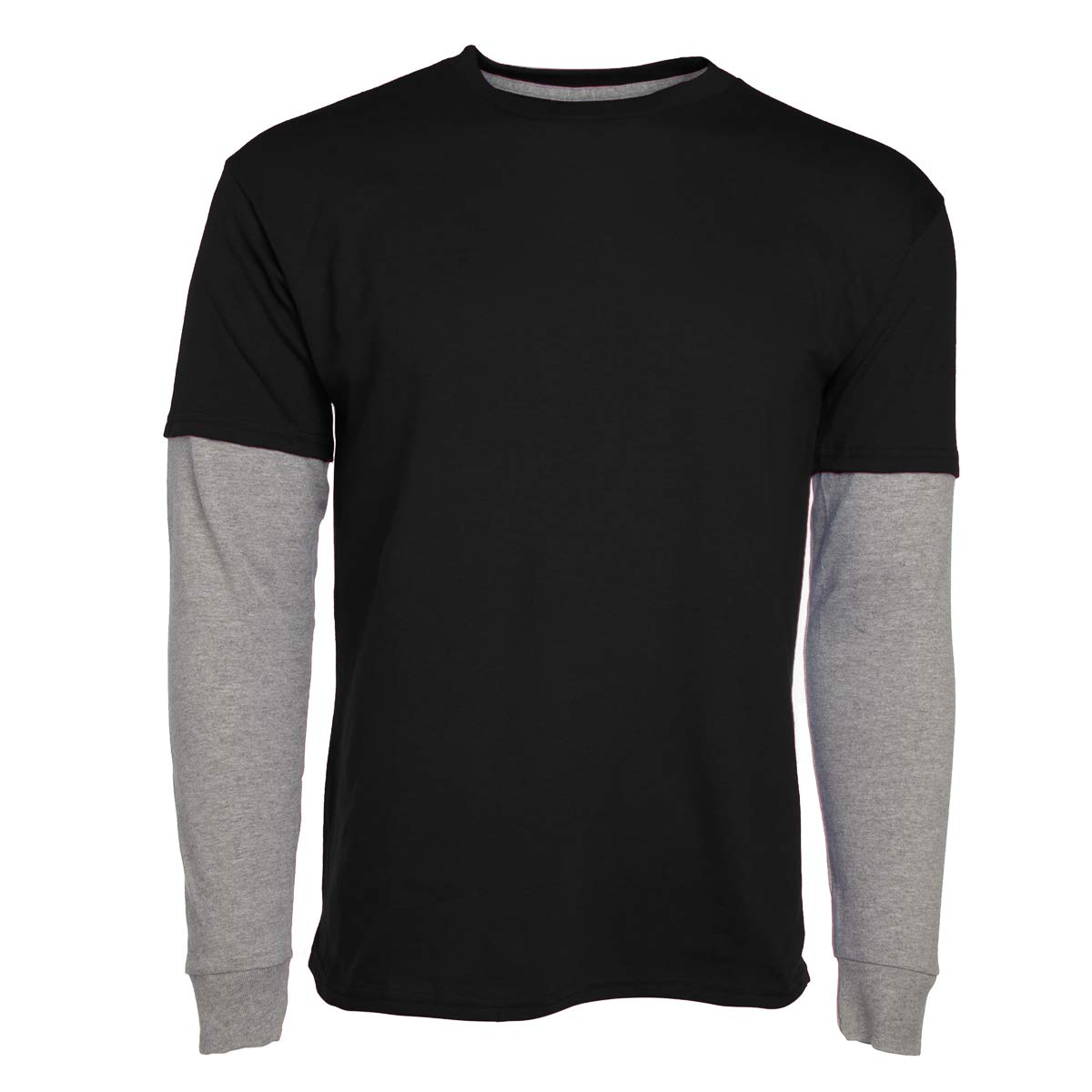 24c5d9ae Hanes Boys Breathable Cotton Layered Long Sleeve T Shirts Kids ...
