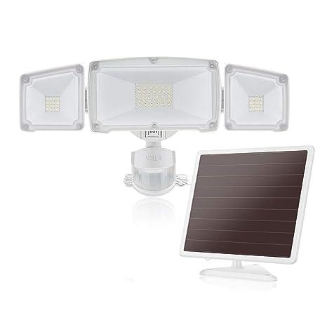 1500LM LED Luz Solar de Seguridad de Sensor de Movimiento con 3 cabezales de luz ajustables