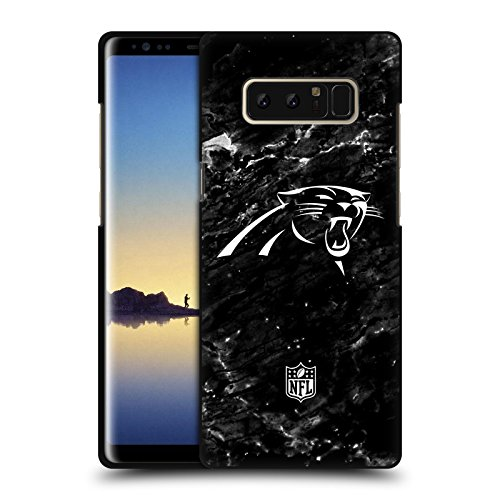 Official NFL Marble 2017/18 Carolina Panthers Black Soft Gel Case for Samsung Galaxy Note8 / Note ()