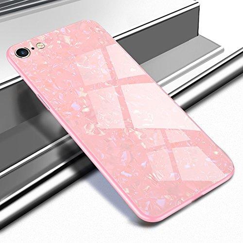 Shunda Funda iPhone 6 Plus, Vidrio Templado Carcasa Ultra Delgado Hard Case para iPhone 6 Plus/6s Plus Cubierta Tempered...