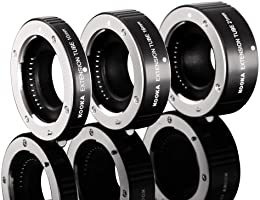 KOOKA KK-FT47 10 16 21mm Copper Macro AF Extension Tube for Close-up Image for Olympus Panasonic 4//3 Mirrorless System
