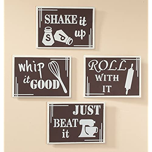 kitchen metal wall art set of 4 - Kitchen Wall Art