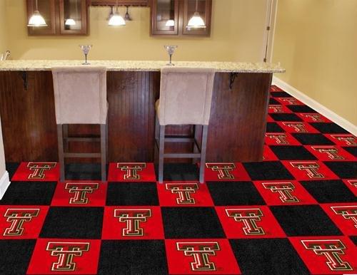 (Fan Mats Texas Tech Carpet Tiles, 18