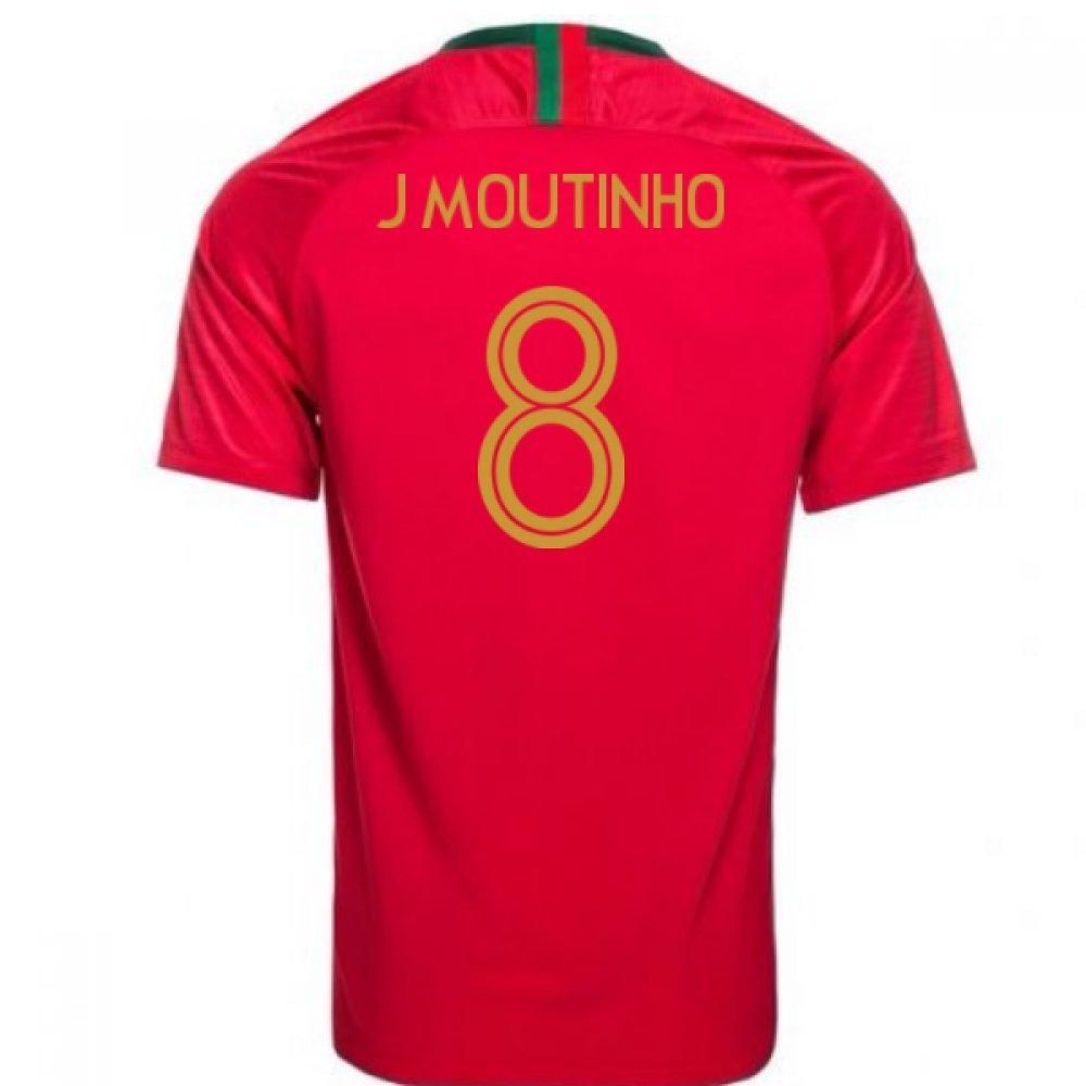 珍しい 2018-2019 Portugal Home Chest Nike Football 8) Shirt XL (J Moutinho 8) B07DK52D7H XL 46-48