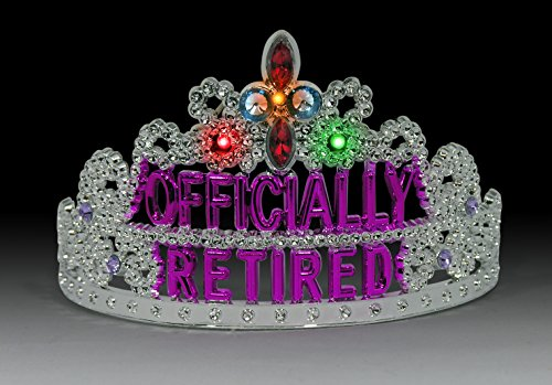 Forum Novelties Officially Retired Light Up Retirement Party Tiara by Forum Novelties (Image #1)