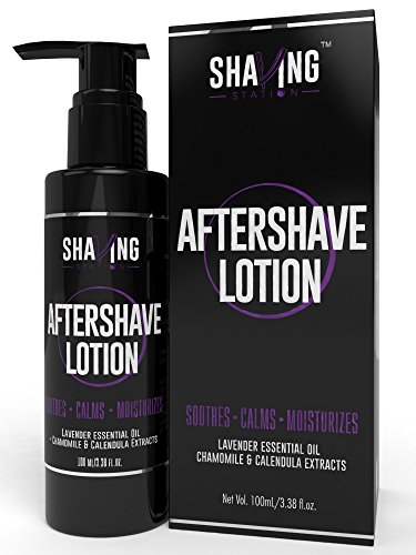 Shaving Station - Aftershave Lotion - Lavender & Tea Tree Oil -...