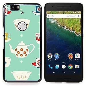 Stuss Case / Funda Carcasa protectora - Patrón de la taza de té de porcelana minimalista - Huawei Google Nexus 6P