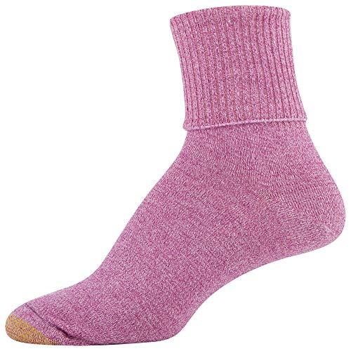 thumbnail 17 - Gold Toe Women's Classic Turn Cuff Socks, Multipai - Choose SZ/color