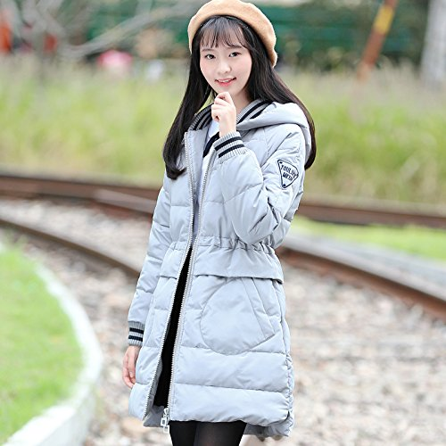 Xuanku Winter Clothing Cotton Clothing, Long, Thick Cotton And Cotton Coat Jacket Female In The College. Grey