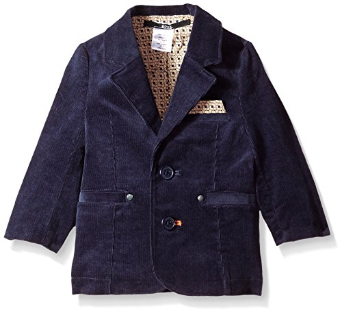 Hugo Boss Baby Baby Boys' Corduroy Suit Jacket with Printed Lining, Bleu Cargo, 9 Months