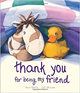 Amazoncom Thank You For Being My Friend Picture Books