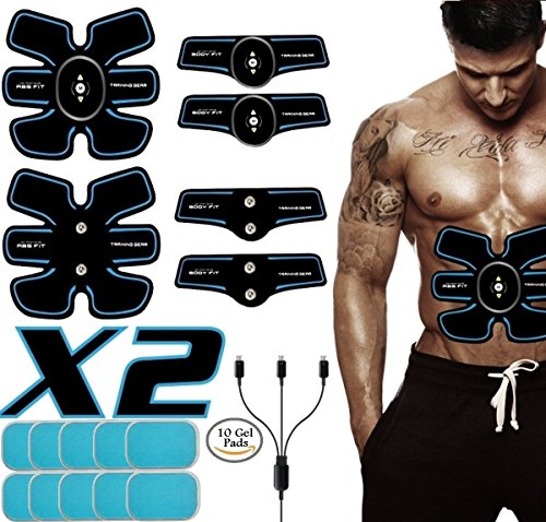 Three Cousins Rechargeable ABS Stimulator, Men Women EMS Muscle Toner For Abdomen/Arm/Leg/Waist